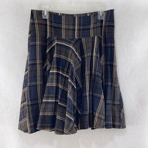 Zara plaid circle skirt